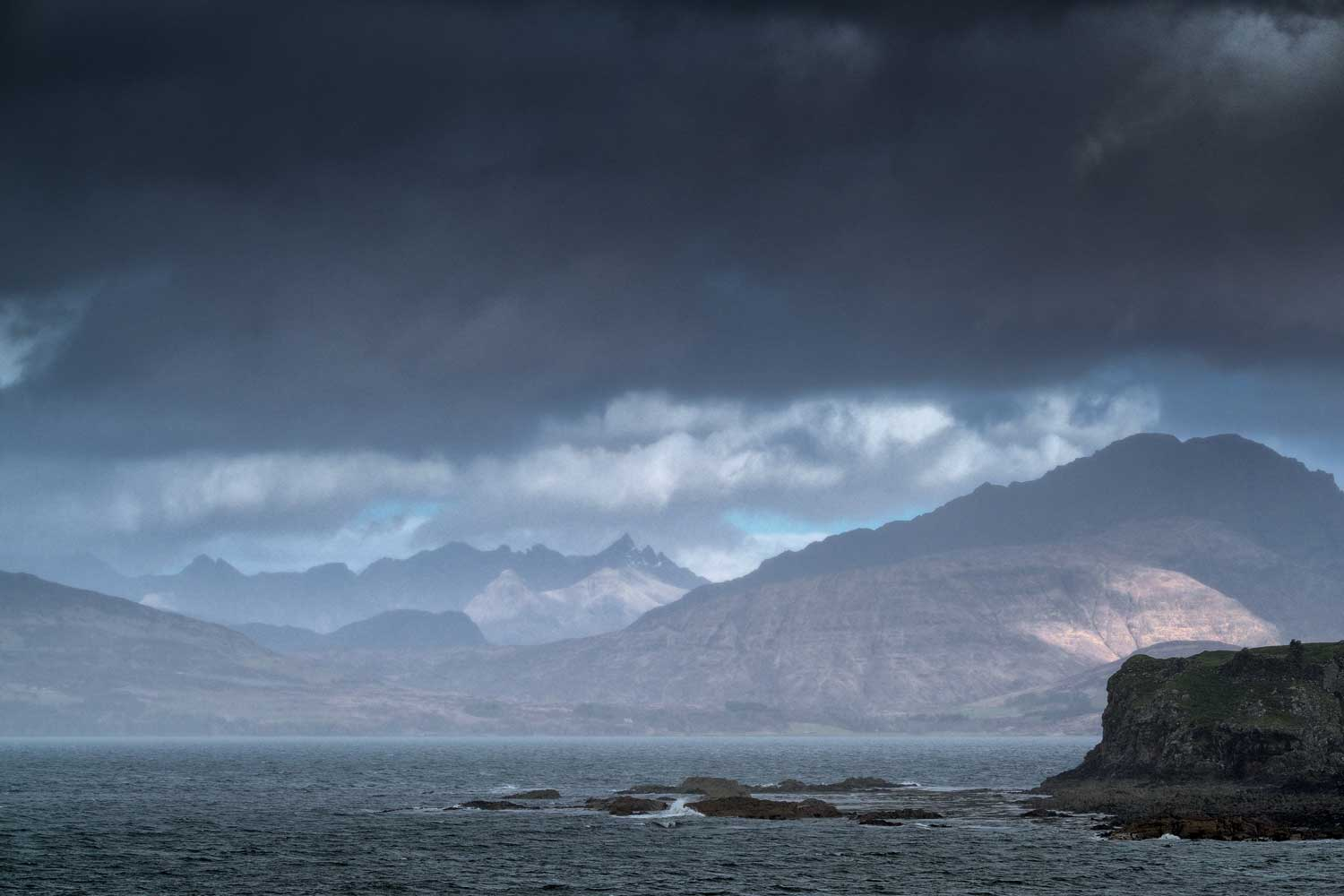 Wild Weather over the Black Cuillin, Tokavaig, Isle of Skye, Scotland - Bob Hamilton