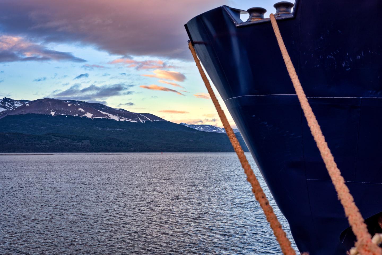 Polar Pioneer docked at Puerta Willaims