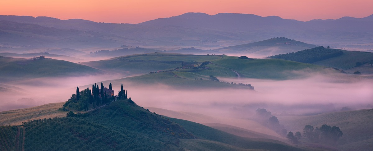 Belvedere Misty Dawn Panorama