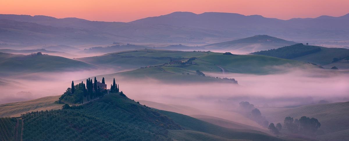 Belvedere Misty Dawn Panorama
