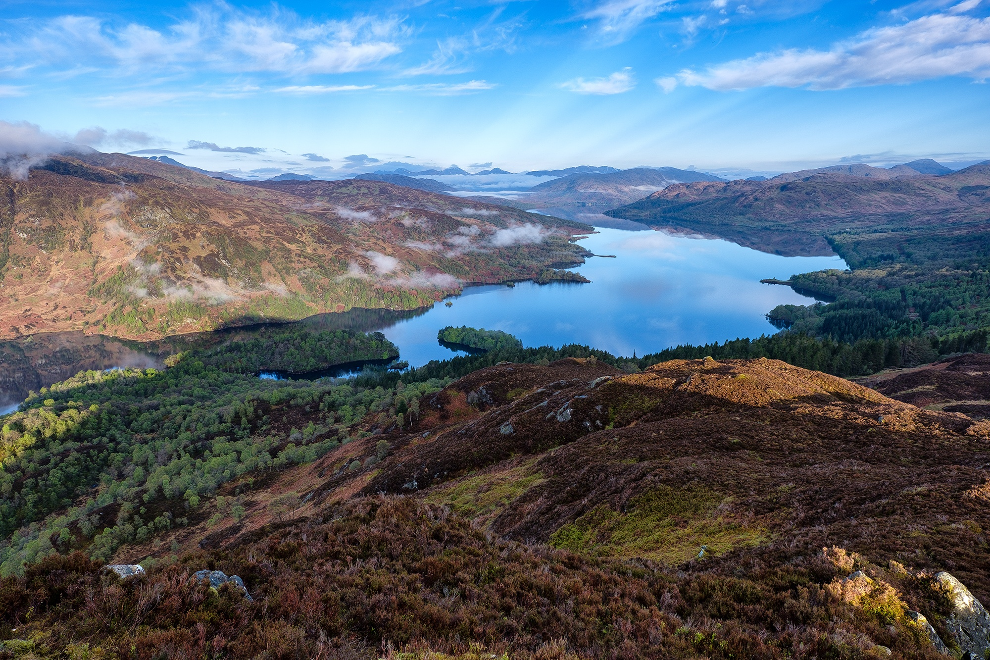 Daybreak on Loch Katrine and the Arrochar Alps, Trossachs, Scotland - XH1 +16-55mm