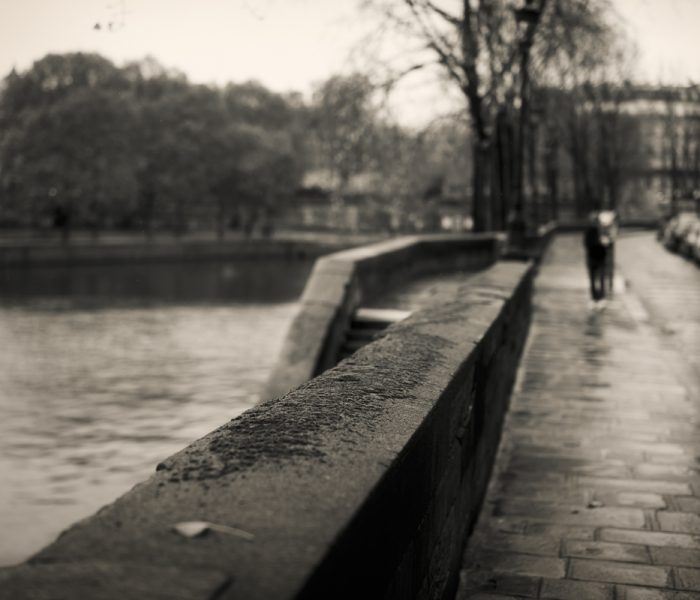 #798. A walk in the drizzle in Paris on a Sunday morning.