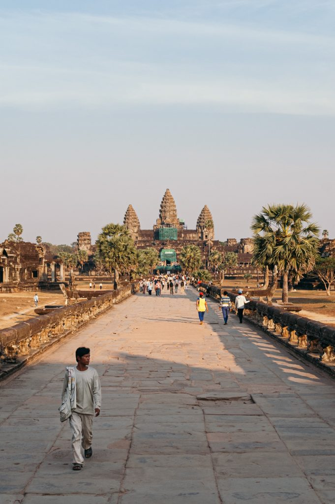 Standard view on Angkor Wat temple