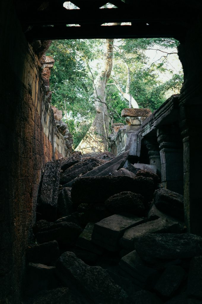 Blocked alleyway inside Preah Khan, Angkor
