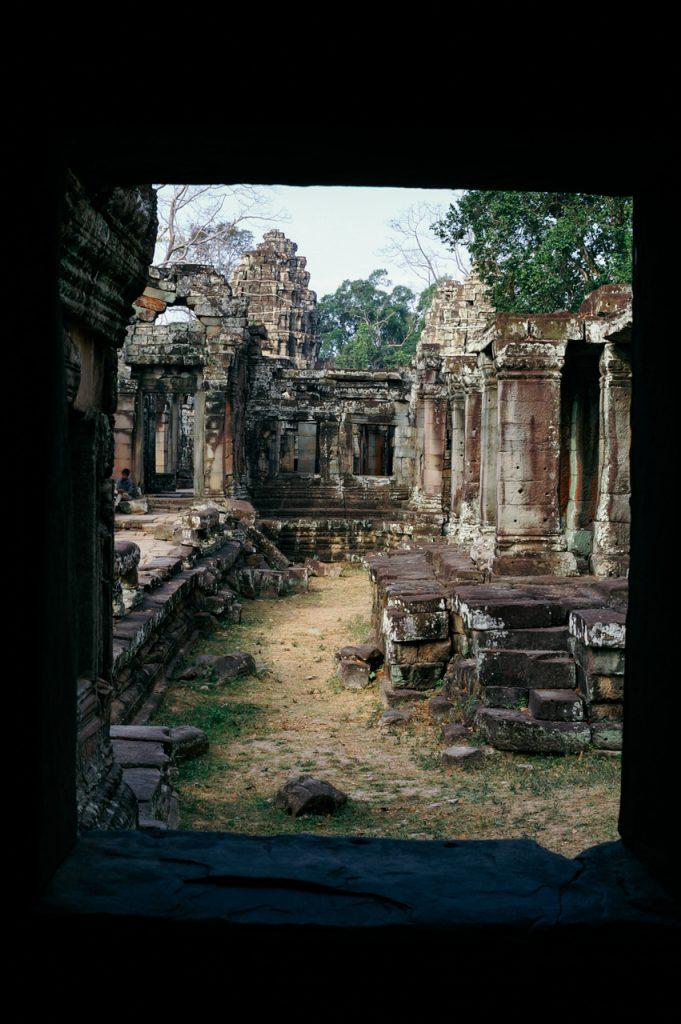 Inside Banteay Kdei monastery, Angkor
