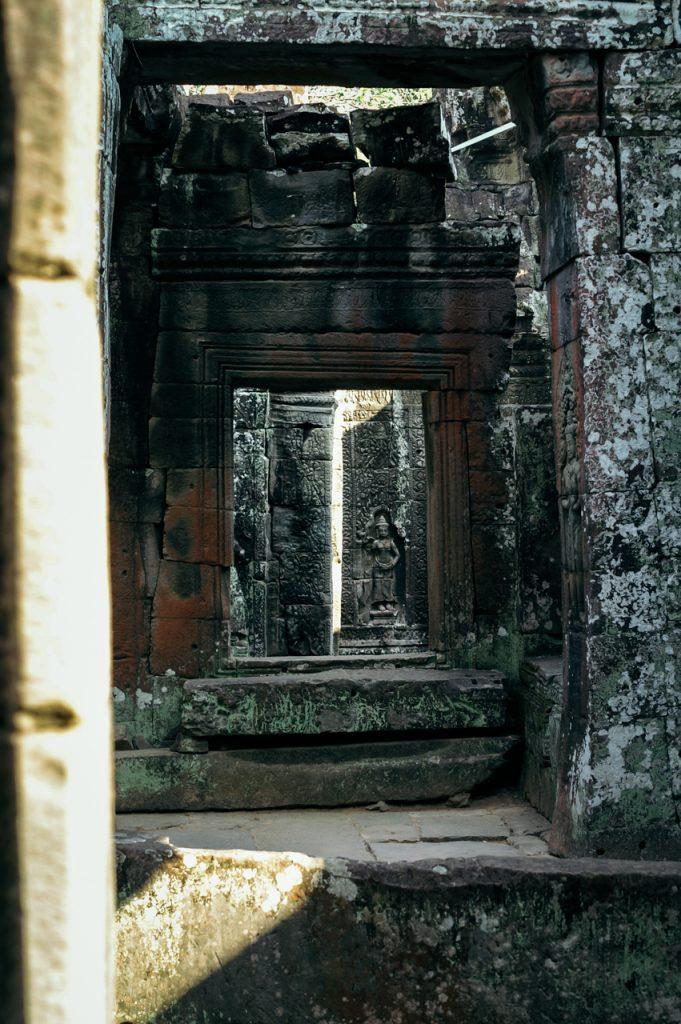 Statue inside Banteay Kdei monastery, Angkor