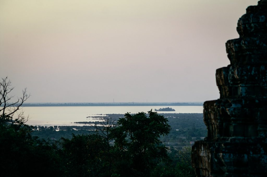Tonlé Sap from Phnom Bakheng temple mountain, Angkor