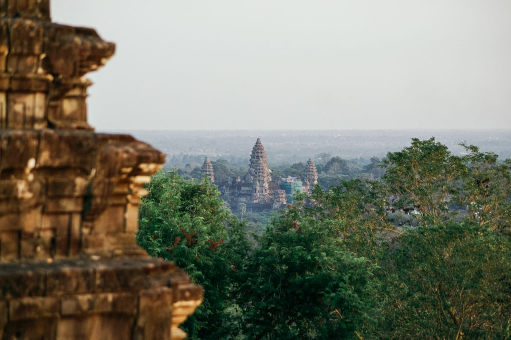 Angkor Wat from Phnom Bakheng temple mountain, Angkor